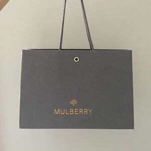 Mulberry wallet paper bag only